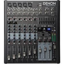 DENON DN-408X 8 Channel Pro FX USB Live Event or Home Studio Audio Mixer