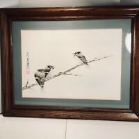 China  Frank T. Gee Limited Edition Print of Baby Blue Birds