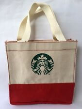 1 Pc Starbucks Thailand Christmas Tote Canvas Lunch Bag Limited