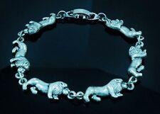6.75 Inch Lion Bracelet antique silver plated 17 Cm