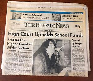1984 Buffalo Evening News USFL Donald Trump Wayne Gretzky Buffalo Stallions MISL