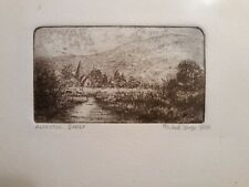 """ORIGINAL MICHAEL BOND ETCHING - SIGNED/NUMBERED 6/100 TITLED """"ALFRISTON SUSSEX"""""""