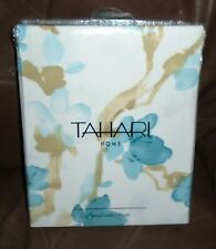 Tahari Home  Floral  Shower Curtain Blue on White 72 x 72  NEW