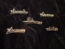 Antique Hand Crafted 14kt Gold Filled Name Pin Female and Male