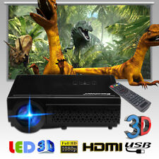 Excelvan 96+ 1080p LED HDMI Projector Heimkino Beamer Video Projektor Schwarz EU