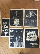 Rod Stewart Music Newspaper Advertisements Posters x 5
