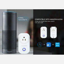 WiFi Smart Power Socket Timer Switch Outlet Compatible with Google home & Alexa