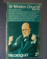 1974 2c Nicaragua Sir Winston Churchill Stamp GMA Gem MT 10