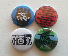 "4 x The Chords 1"" Pin Button Badges ( power pop mod england british uk music )"