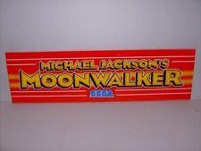 MICHAEL JACKSON'S MOONWALKER SEGA ARCADE GAME MARQUEE PLEXIGLASS ORIGINAL