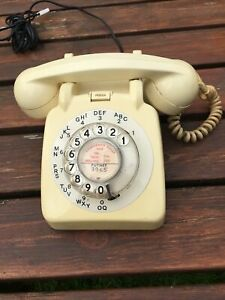 Ivory Rotary Dial Telephone 706L Retro 1967 Fully Working All Original