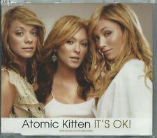ATOMIC KITTEN - IT'S OK! / YOU ARE 2002 EU 3 TRACK ENHANCED CD SINGLE SINDX36