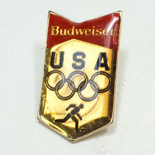 Vintage 1983 BUDWEISER Beer Ad A. Busch USA Gold Toned Soccer OLYMPICS Pin