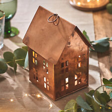 Copper House Tea Light Candle Holder Table Lantern Christmas Home Decoration