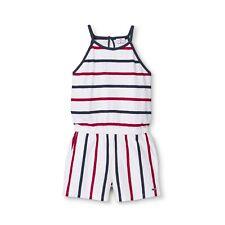 Vineyard Vines for Target - Girls Striped Scoop Neck Romper - Red/Navy - XL