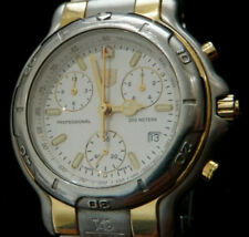 TAG Heuer 6000 Men's Stainless & 18K Gold Chronograph Watch CH1150 **NO BAND**