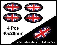 4 pezzi Ovale DISSOLVENZA NEL NERO & Union Jack britannico GB Bandiera
