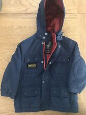 Barbour International Jacket Childs Boys Navy Blue XXS