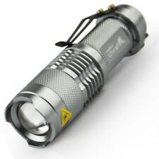 Cree Q5 LED zoomable Mini lámpara de Plata