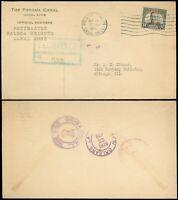 SEP 15 1926 BALBOA HEIGHTS Cds, PANAMA CANAL / ZONE POSTMASTER O.B. C/C, SC #91!