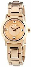 NEW Nixon A339897 Womens Mini B Stainless Steel All Rose Gold Bracelet Watch 50m