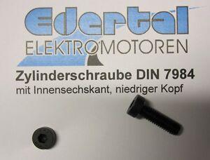 Zylinderschraube DIN 7984 blank Innensechskant niedriger Kopf M6 x 16 10.9 Stahl