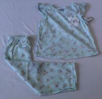 Carter's Toddler Girl's Allover Floral 2 Piece Pajama Set DD5 Light Blue Size 4T