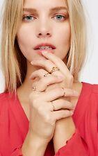 Free People Teeny Tiny Iridescent Ring Set (6) Gold