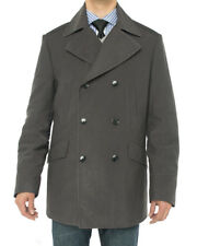 Luciano Natazzi Mens Double Breasted Topcoat Peacoat Casual Overcoat Jacket