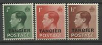 """No: 67473 - UK - LOT OF 3 OLD STAMPS w. OVERPRINTS """"TANGIER"""" - MH!!"""