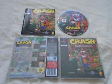 Crash Bandicoot PS1 (COMPLETE) black label platform original Sony Playstation