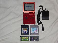 Nintendo GameBoy Advance SP Flame RED Console GBA ADV System game boy gbc