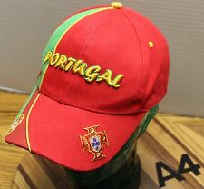 NICE PORTUGAL COUNTRY FLAG RED/GREEN HAT STRAPBACK ADJUSTABLE EMBROIDERED VGC A4