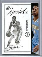 Andre Iguodala 12/13 Panini Signatures Emerald #5/5