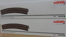 """Märklin 24230 C-Gleis Gebogenes Gleis R2 = 437,5 mm / 30° 12 Stück H0 AC """"Neu"""""""