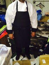 Master Tunic Chef Coat White W/Black Cuffs Size 2Xl, Med. free black apron & hat