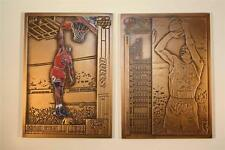 MICHAEL JORDAN Colorized 1991 Highland Mint BRONZE METAL Card #1 Upper Deck