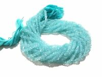 """1 Strand Natural Aquamarine Rondelle Faceted 3-4mm,13""""inch Gemstone Beads"""