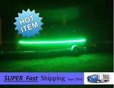 12vDC battery powered LED green vanity lights -- boat or pontoon universal