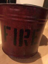 Vintage Red Fire Bucket Round Bottom (B)