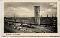 DÜSSELDORF 1941 Dt. Reich AK Tram Strassenbahn vor Hauptbahnhof Bahnhof alte AK