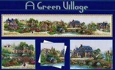 A Green Village World famous tale Pretty Counted Cross Stitch Kit 14CT 163x 27cm