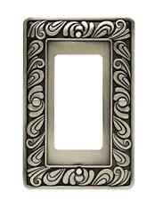 64046 Paisley Single GFCI  Satin Pewter Cover Plate