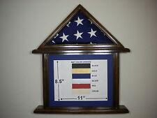 3 X 5 BLACK WALNUT DOCUMENT AND FLAG DISPLAY CASE FRAME CAPITAL