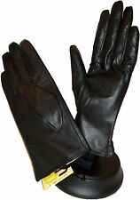 woman's Gloves, size L, Leather Winter Gloves warm lined BR New Leather Gloves.