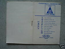 Vintage US Army Issued Booklet Currency Converter