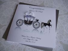 Handmade Personalised Wedding Congratulations Horse and Carriage Card