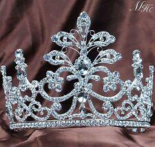 Floral Wedding Tiara Crown Rhinestone Crystal Headband Bridal Pageant Party Prom