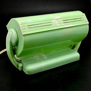 Vintage Green Swirl Bakelite Bed Lamp Duperite Baroness Art Deco 40-50s WORKING
