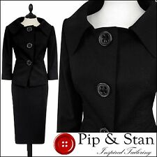 NEXT BLACK PENCIL SKIRT SUIT SIZE UK12 US8  WOMENS LADIES WOMAN50S INSPIRED